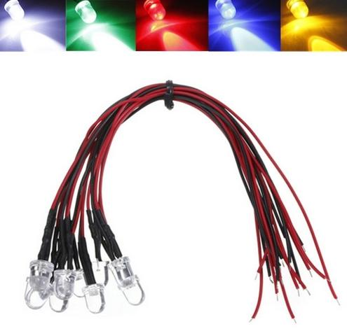 best selling MIX DC12V Water Clear 8mm Pre Wired LED Diode For Christmas, Car, Decoration etc