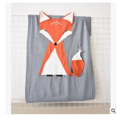 Mantas Animal Fox ropa de cama BabyToddler abrigo de punto suaves mantas Recién nacido Swaddling Kids Gift Niñas Mantas DHL envío gratis