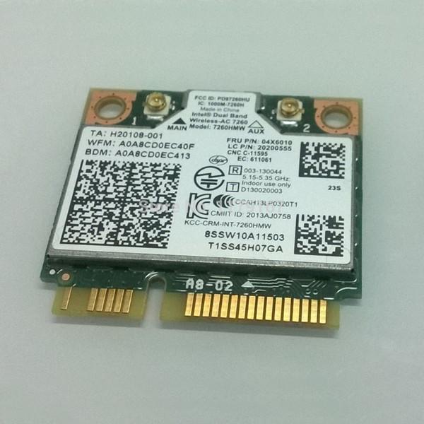 Scheda Intel® dual band wireless 7260AC 7260HMW 802.11b / g / n / acBT4.0 per Lenovo Thinkpad S540 E540, FRU 04x6010 20200555