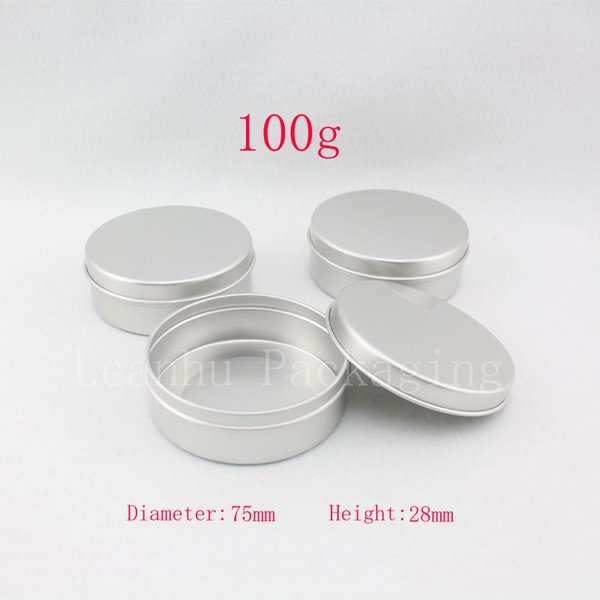 100g X 20 empty aluminum cream container ,candle metal canning jar ,100ml cosmetic skin care cream bottle , tin storage pot