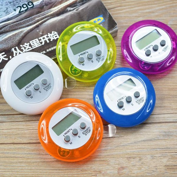 novelty digital kitchen timer Kitchen helper Mini Digital LCD Kitchen Count Down Clip Timer Alarm fast shipping F2017137