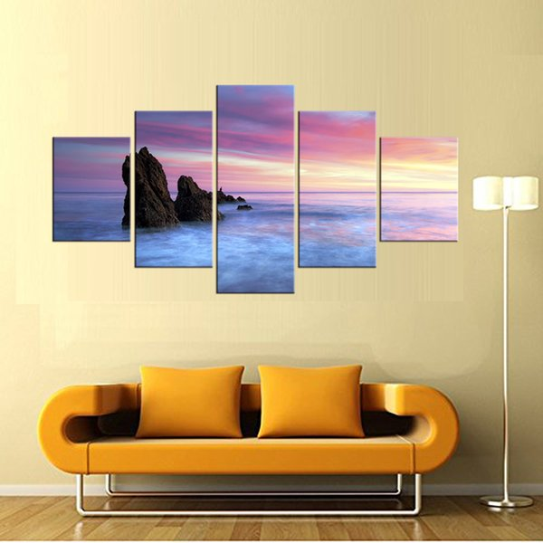 2018 5 Panel2017 Modern Wall Art Home Decor Printed Oil Painting ...