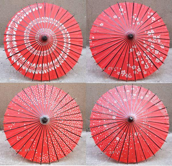 2019 Red Japanese Cherry Handicrafts Oil Paper Umbrella Cartoon