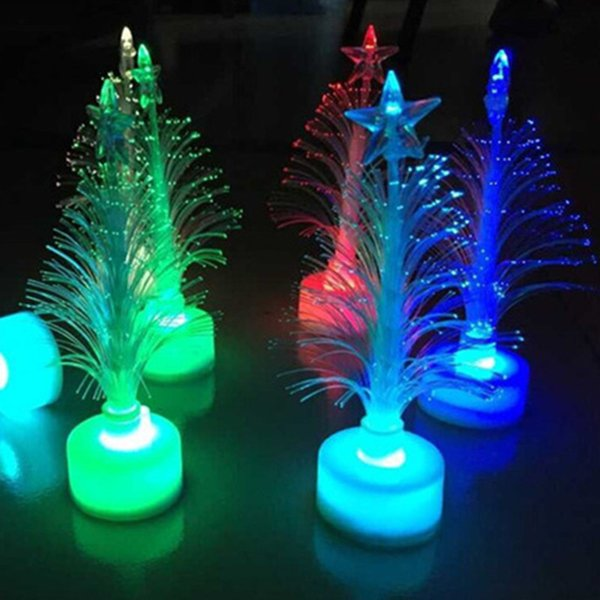 save off b0ecd 1256d Mini Led Christmas Tree Lights Flashing Xmas Trees Night Light Lamp  Halloween Christmas New Year Party Bar Outdoor Shopping Mall Decorations 8  Glow ...