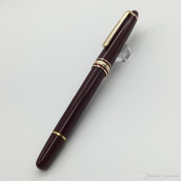 La pluma del rodillo del color rojo del diseño clásico de alta calidad de MB alta para la oficina de la escuela suministra la papelería