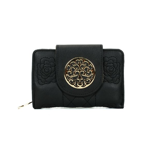 National Embroidered Short Lady Wallets Holders Plain Vintage Hasp Clutch Bag Credit Card Package Multi-bit Fashion Women Purse VKP1417