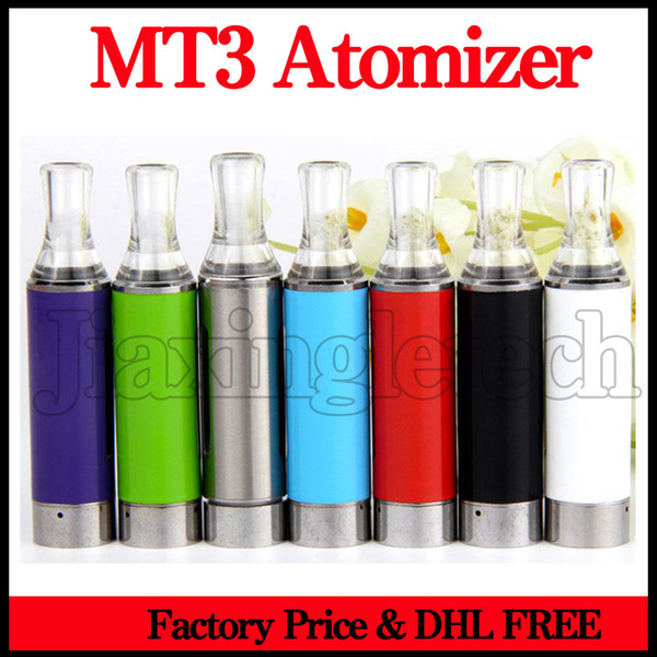 Evod MT3 Atomizer Ego Clearomizer Replacement Bottom Heating Wick Coils 2.4ML Tank Vaporizer For Evod E Cigarette Battery Blister Kit