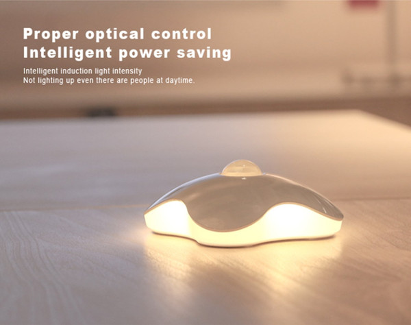 Motion Sensor Light, Led Motion activated wireless Nightlight Clover Style Night Lamp, Wall Light Stick on Anywhere with battery operated Wa