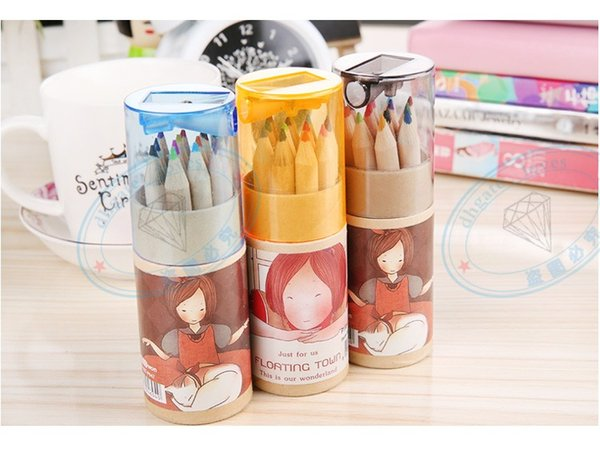 ecret Garden Coloring Pencils Enchanted Forest Painting Pens Colored Pencils Creative Writing Tools 12 colors Colouring Pencils