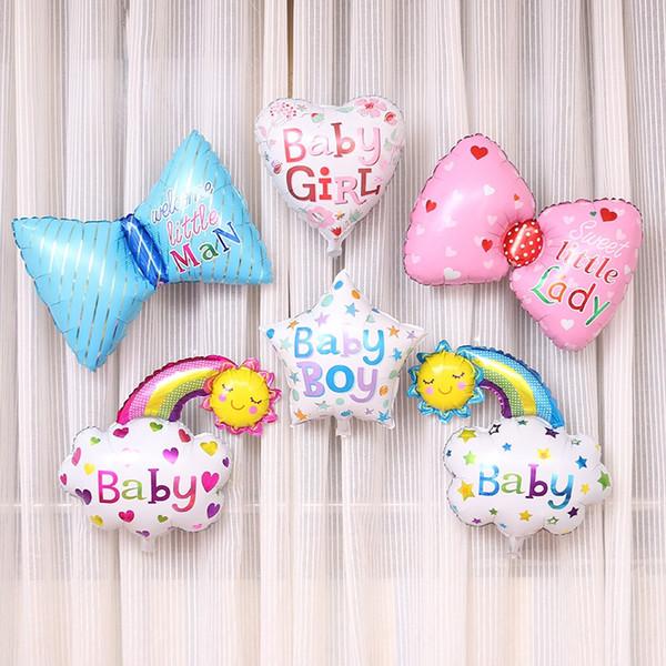 10pcs/lot bow tie aluminum foil balloon baby boy girl birthday ballon inflatable balloon birthday helium balloon decoration