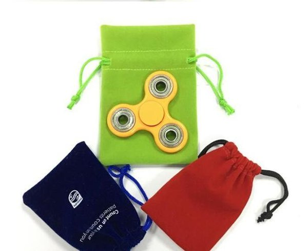 Wholesale Hand Spinner Fidget Spinner Portable Rope Bag Anti-Scratch Easy Carry Storage Bags Pouch Drawstring Bags Draw String Free Shipping