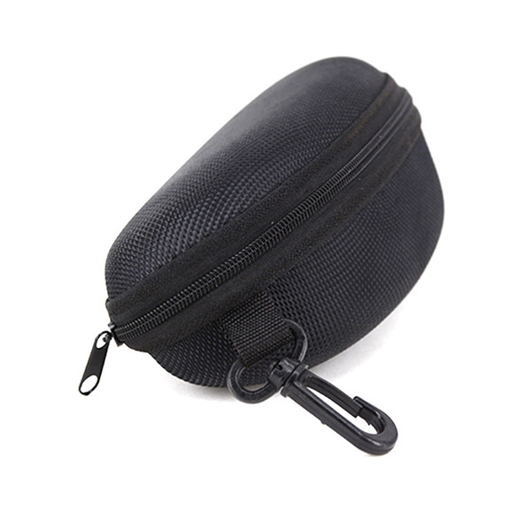 top popular Wholesale Black Sunglasses Box with hook Hanger Zipper Glasses Case for Big Frame Hot Sale free shipping 2021