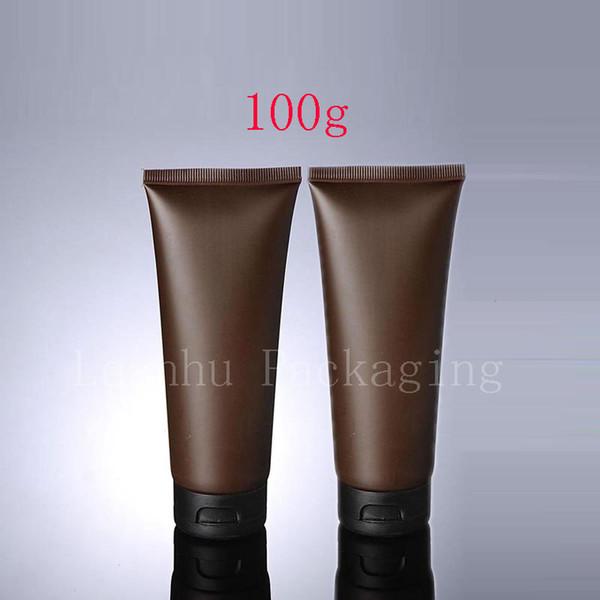 100 г х 50 пустой коричневый мягкая трубка для косметической упаковки 100 мл лосьон крем пластиковая бутылка уход за кожей крем сожмите контейнеры трубки