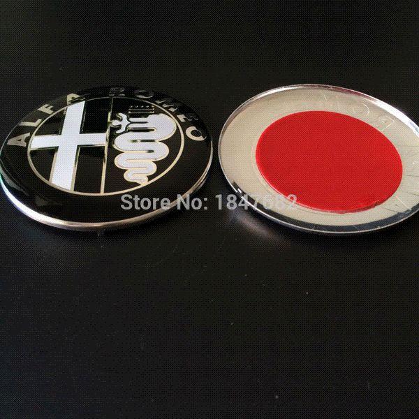 Черный белый красный новый 74 мм ALFA ROMEO логотип автомобиля эмблема знак наклейка для ALFA ROMEO Mito 147 156 159 166 Giulietta