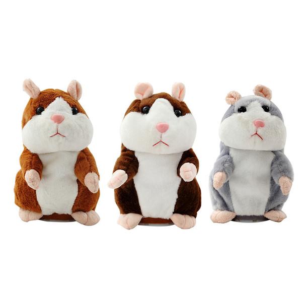 15CM Lovely Talking Hamster Plush Toy Cute Speak Talking Sound Record Hamster Talking Toys for Children christmas gift