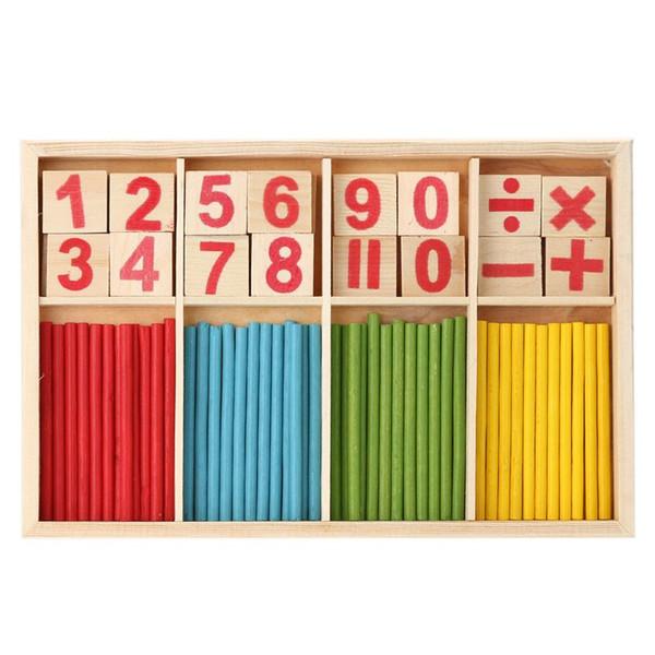 Дети Деревянные Числа Математика Раннее Обучение Подсчет Развивающие Игрушки Развивающие Игрушки Детский Подарок деревянная игрушка деревянная игрушка