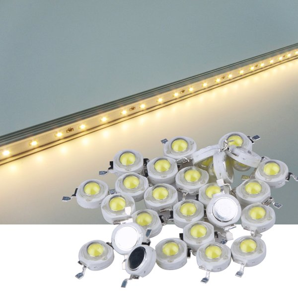 Wholesale- 100Pcs/lot 1W High Power LED Lamp Beads 100-120LM White / Warm white Full Watt LEDs Bulb light