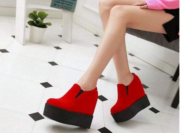 In the autumn of 2016 the new increased within a single large base shoe deep mouth platform shoes high with wedges FuRuiSourc