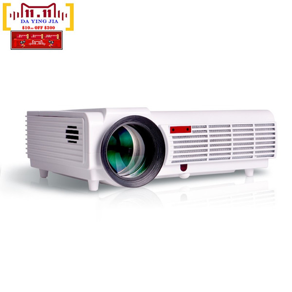 Wholesale-LED 96 Proyector 5500lms 250Inch Android WiFi Smart Led 3D Home theater TV Projector Full HD Advertising Education Free Shipping