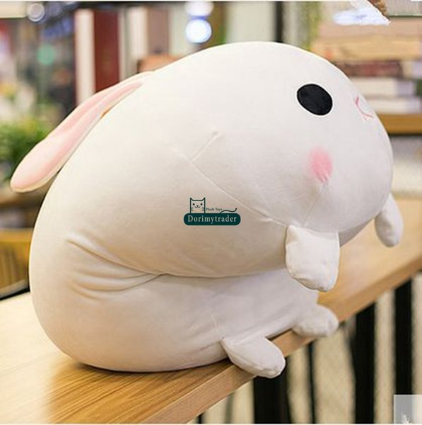 Dorimytrader New Hot Lovely Soft Lying Cartoon Bunny Plush Doll Giant Stuffed Animal Rabbit Toy Pillow Child Gift 65cm x 45cm DY60085