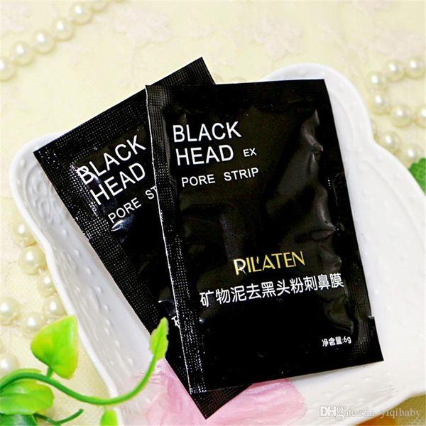 50pcs PILATEN Facial Minerals Conk Nose Blackhead Remover Mask Facial Mask Nose Blackhead Cleaner 6g/pcsacial Mask Remove Black Head