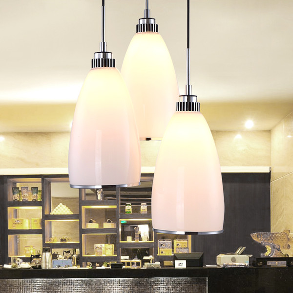 WOXIU Restaurant lights, E27*3,Size 59*30*33,Material:glass,stainless steel, Color warm white,suitable:Restaurant,dining table Hotel room