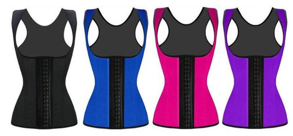Women Sweating Waist Training Cincher 3 Rows Buckle Underbust Slimming Corset Shapewear Body Sculpting Vest 4 Colors Modeling Clothing