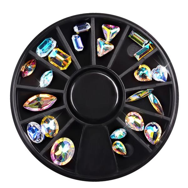best selling New Nail Art Decorations Transparent Irregular AB Crystal Diamonds 3d Manicure Pedicure Oval Horse Eye Decors Diy Nails Beauty