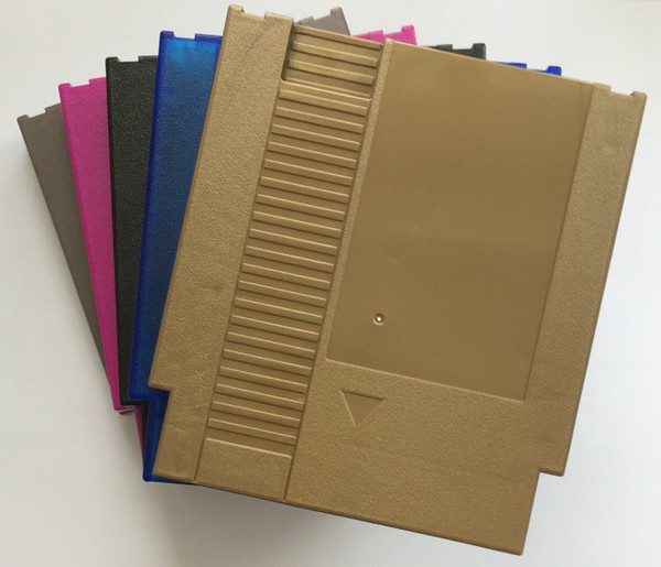 FIVE color 72 Pins Game Cartridge Replacement Plastic Shell For NES Console