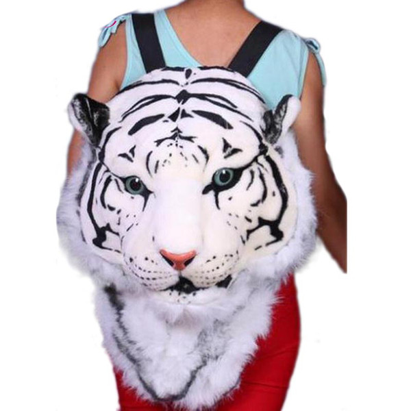Wholesale- 2017 Tiger Head White Tiger Head style Bag Knapsack Backpack tiger bags 2017 new Cool HUGE Luxury