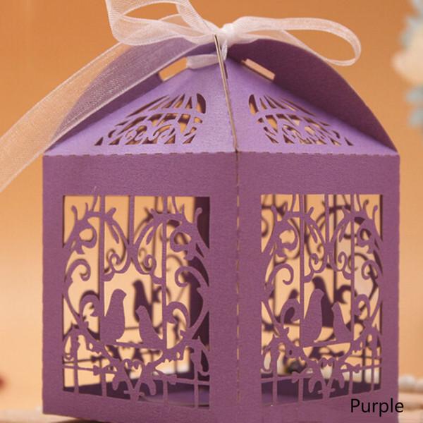 50 pcs Amour Oiseaux De Mariage Boîte De Bonbons Creative Laser Coupe Creux Cadeau Papier Boîtes Boîtes En Carton De Chocolat Fournitures De Mariage Boîtes Cadeaux