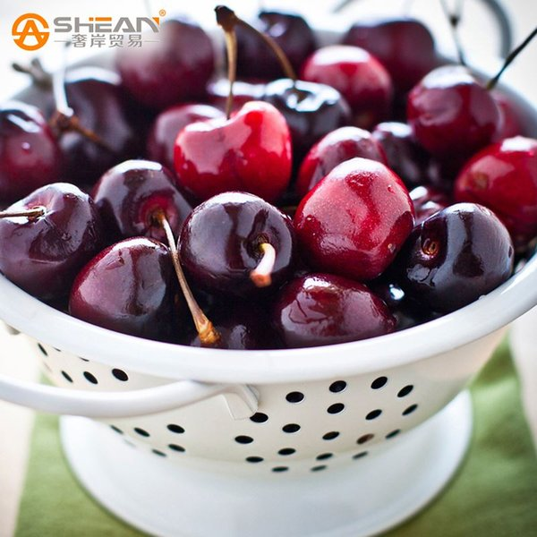 A Pack 10 Pcs Dark Red Cherry Seed Balcony Garden Fruit Bonsai Potted Plant Seed Green Bonsai Cherry Fruits Seed