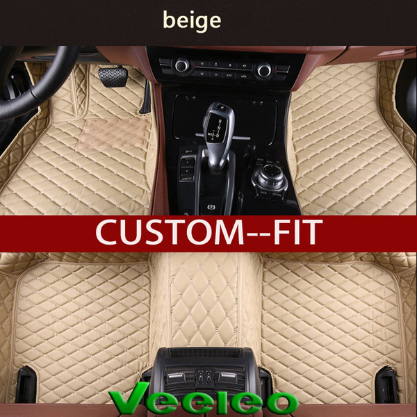 top popular Veeleo+ Custom Fit - 6 Colors Leather Car Floor Mats for Benz All Class All Weather Waterproof Anti-slip 3D carpet Front & Rear Liner 2019