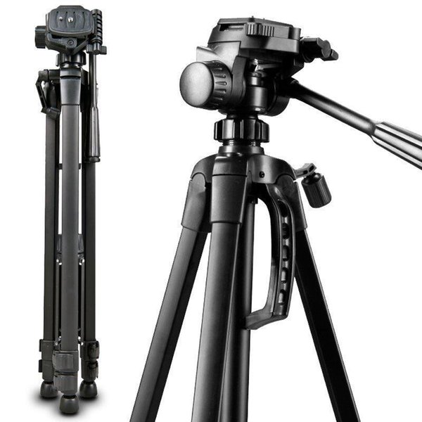2017 New Brand Professional DSLR Tripods with Tripod Head Stability Portable Aluminum Camera Tripods Max Loading 3kg