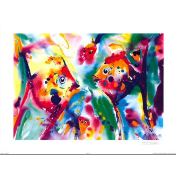 Pinturas abstractas de Angel Fish de Alfred Gockel Reproducción de arte de Lienzo a mano para decoración de paredes