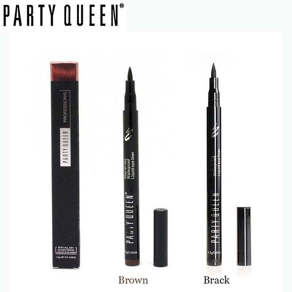 Wholesale- Brand Party Queen Make Up Very sharp Waterproof eyeliner long-Lasting Liquid Eye liner Makeup Beauty Cosmetic eyeliner pencil