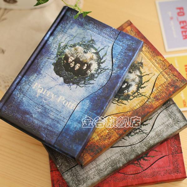 Cuaderno de Harry Potter Cubierta dura retra Agenda Agenda Libreta Imán Libro de diario Regalo creativo Papelería estudiante 8 4lg F R