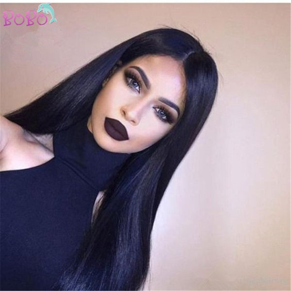 Top Quality High Ponytail Full Lace Wigs Silky Straight Virgin Lace Front Wig Malaysian Full Lace Human Hair Wigs with Baby Hair