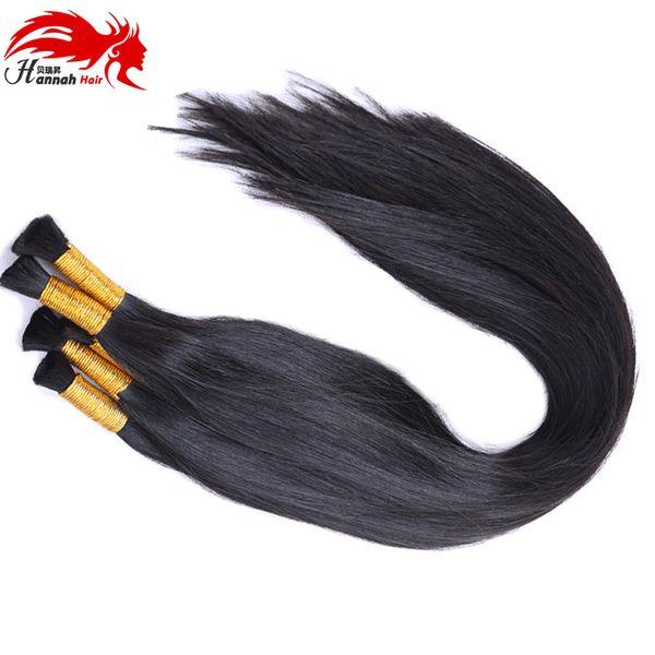 top popular Human Hair For Micro Braids Brazilian Human Bulk Hair Human Braiding Hair Bulk No Weft Natural Color 2019