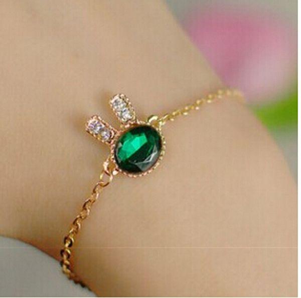 wholesale-l091 one direction pulseras girls bijoux fashion new 2015 men green rabit ear bracelets for women jewelry accessories bangle