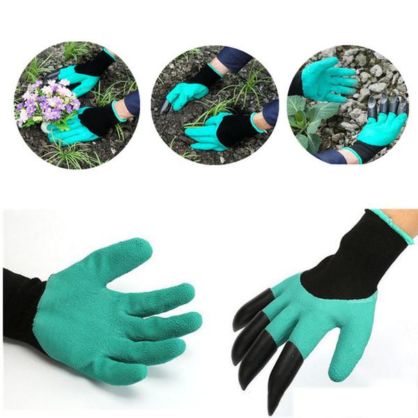 Jardim Criativo Genie Luvas com 4 Garras Rápida maneira fácil de Construtores de Jardinagem Escavação de Plantio De Borracha + Poliéster 0701021