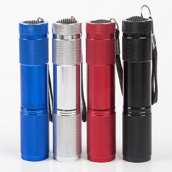 top popular 9 LED Mini Torch 4 Colors Mini LED Flashlight 300LM LED Camping Flashlight Torch Waterproof Flashlights Lamp 3AA Battery Powered Torches 2021