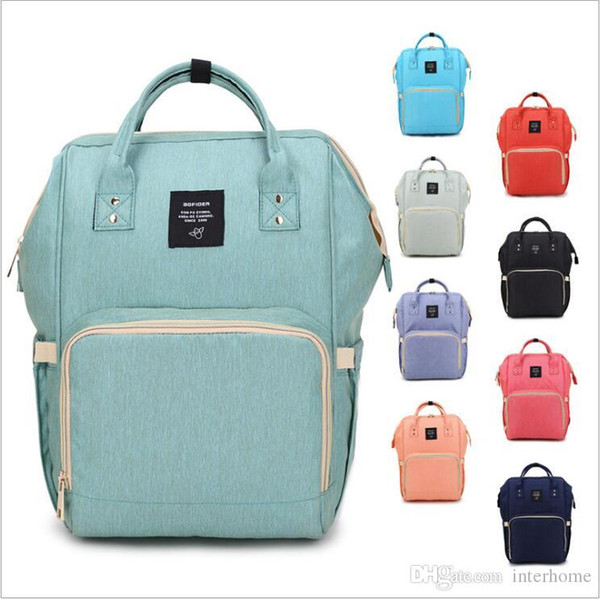 top popular Mommy Bags Brand Nappies Backpack Fashion Mother Backpack Diaper Maternity Backpacks Outdoor Desinger Nursing Travel Bags Organizer B2242 2021