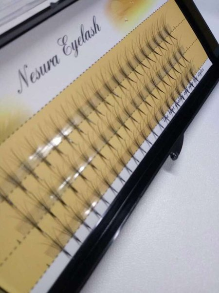 10mm 12mm New Fashion 6D Individual Lashes Black Natural Fake False Eyelash Long Cluster Extension Makeup Beauty Health