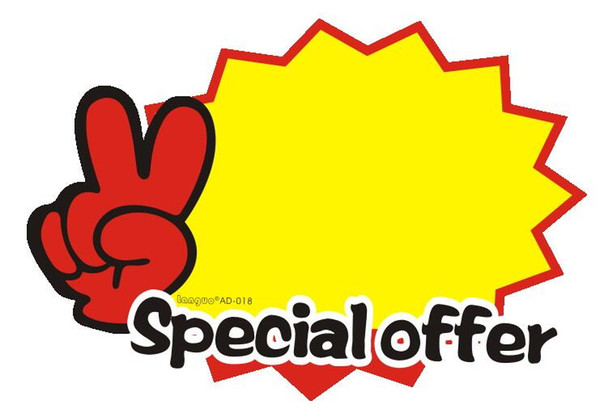 Special Offer paper card POP Explosive card promotional card size sign price label tag discount paperboard