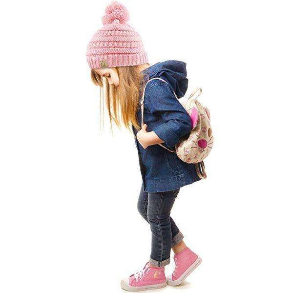 Compre Envío Gratis es Cc Trendy Beanie Knitted Sombreros Niños ...