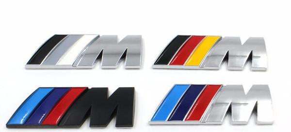 100pcs Car Stickers /// M power M Tech Logo car sticker Emblem Badge Decals For BMW E30 E36 E46 E90 E39 E60 E38 Z3 Z4 M3 M5 X1 X3 X4 X5