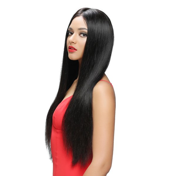 "130-180% Density Full Lace Human Hair Wigs For Black Women Silky Straight Brazilian Remy Hair Glueless Lace Wig 8""-26"""