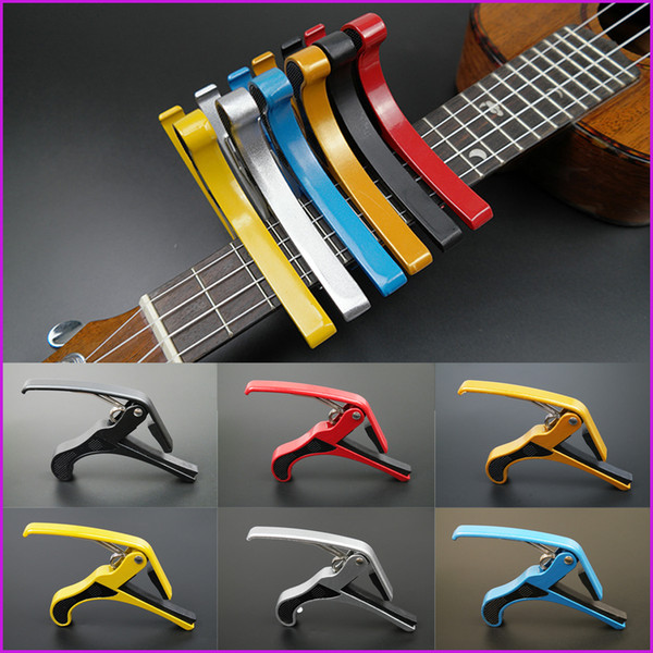 top popular 6 Colors New Arrival Guitar Jaw Capo Clamp for Electric and Acoustic Tuba Guitar Trigger Release free shipping 2020