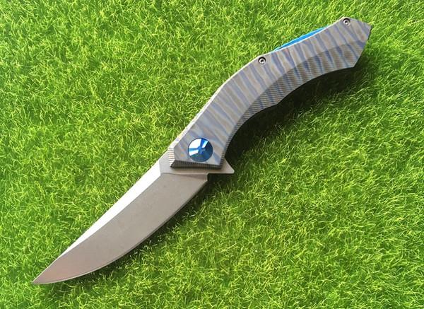 Shirogorov poluchetkiy Wild boar anodized titanium D2 camping hunt outdoors survival tactical folding pocket knife bearing tools